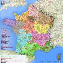 Карта административной реформы Франции 2014 года