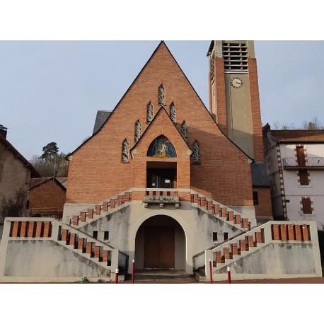 Церковь Нотр-Дам-де-Мине в Обене (Église Notre-Dame-des-Mines d'Aubin)