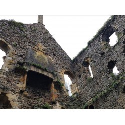 Руины средневекового дома в  Перюс-ле-Рок  (Ancien hôpital des Anglais de Peyrusse-le-Roc)