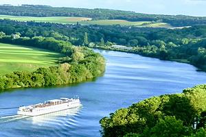 Река Сена (Seine) в Нормандии